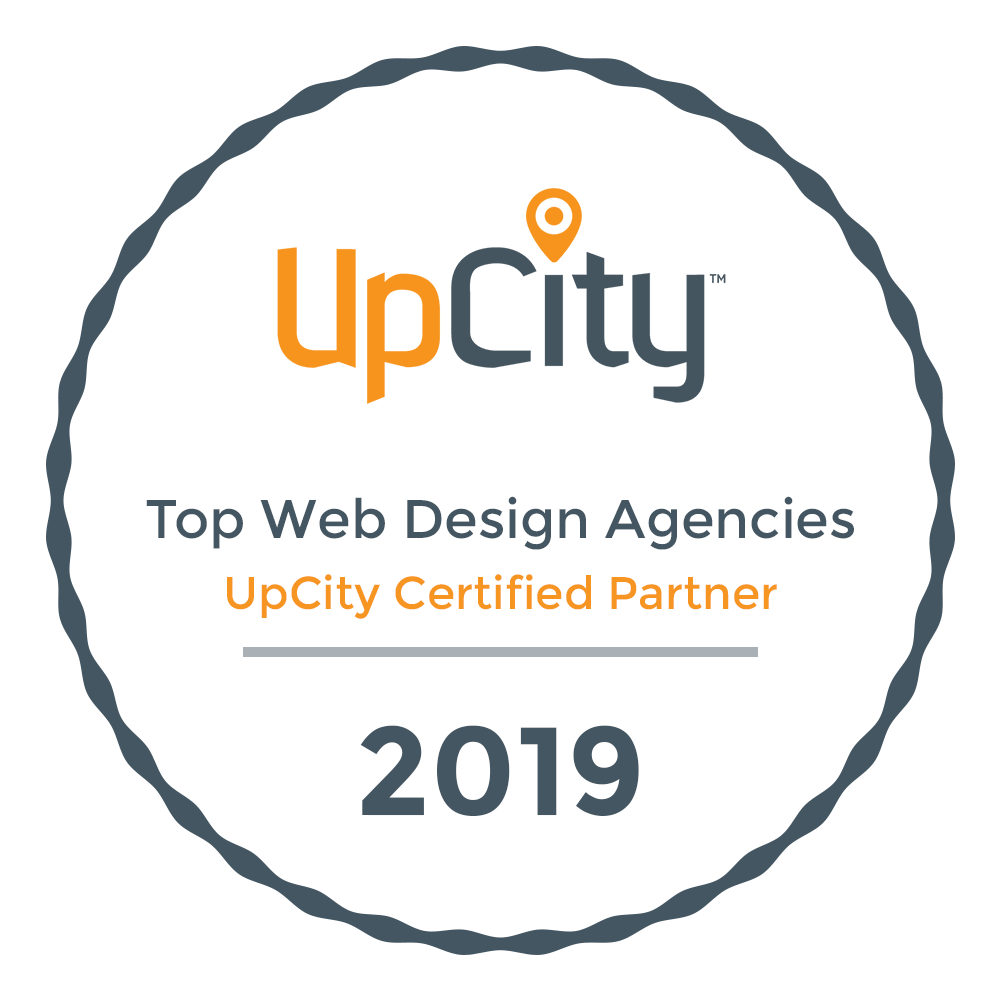 UpCity web design certification badge